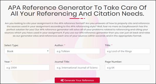 APA reference generator